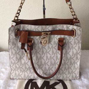 Michael Kors Vanilla PVC Large Hamilton Tote Bag